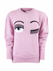 Chiara Ferragni Flirting Sweater In Lpink Angora Blend