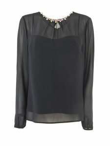 RED Valentino Black Fabric Blouse