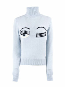 Chiara Ferragni Flirting Sweater In Light Blue