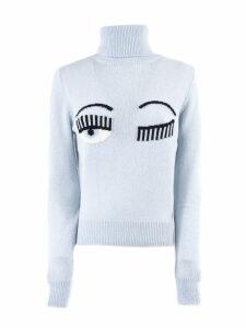 Chiara Ferragni Flirting Sweater In Light Blue