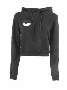 Chiara Ferragni Black Cotton Flirting Sweatshirt