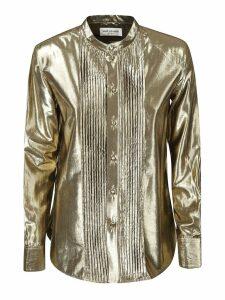 Saint Laurent Buttoned Pleated Shirt