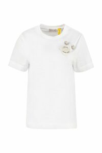 Moncler Embellished Cotton T-shirt