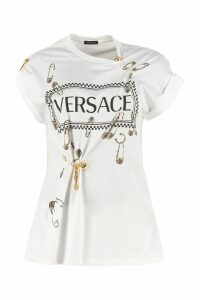 Versace Logo Print Cotton T-shirt