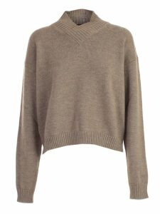 SEMICOUTURE Sweater L/s Short V Neck