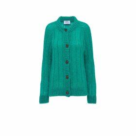 Prada Wool Mohair Costa Cardigan
