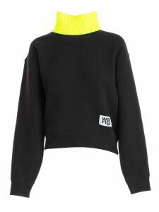 T by Alexander Wang Sweatshirt Over High Neck Fluo