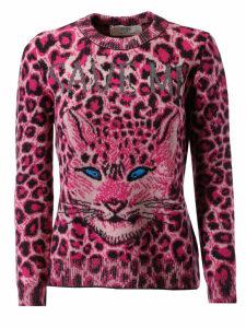 Alberta Ferretti Cheetah Print Sweater