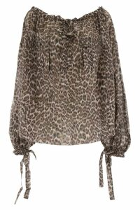 Zimmermann Leopard-printed Blouse