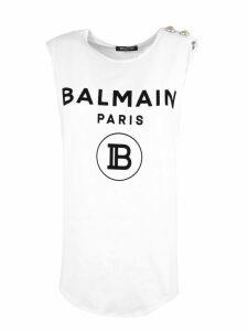Balmain White Cotton T-shirt