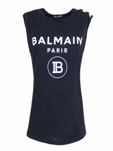 Balmain Black Cotton T-shirt
