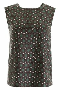 S Max Mara Here is The Cube Reversible Printed Top