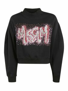 MSGM Sequined Logo Detail Sweatshirt