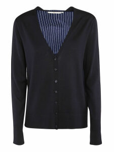 Tory Burch Striped Trim Cardigan
