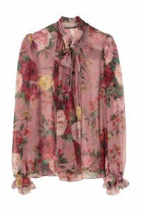 Dolce & Gabbana Printed Chiffon Blouse