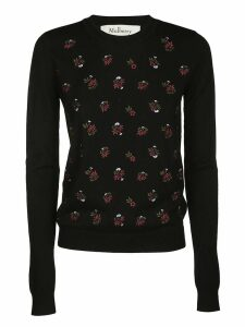 Mulberry Floral Embroided Knit Sweater