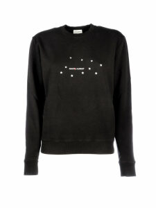 Saint Laurent Logo Stars Crewneck