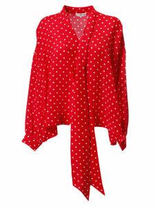 Balenciaga Polka Dot Lace Shirt