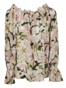 Dolce & Gabbana Flower Print Blouse