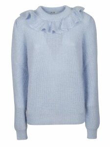 Miu Miu Ruffled Trim Sweater
