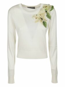 Dolce & Gabbana Flower Embellished Sweater
