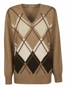 Miu Miu Argyle Sweater