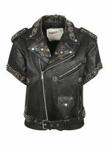 R13 Short Sleeve Studded Leather Jacket