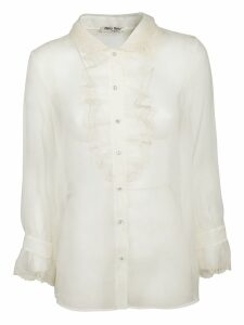 Miu Miu Ruffled Lace Shirt