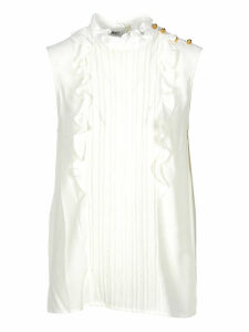 Miu Miu Sleeveless Pleated Blouse