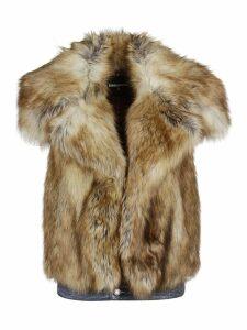 Dsquared2 Sleeveless Faux Fur Jacket