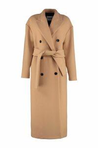 MSGM Virgin Wool Long Coat
