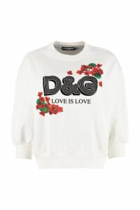 Dolce & Gabbana Logo Detail Cotton Sweatshirt