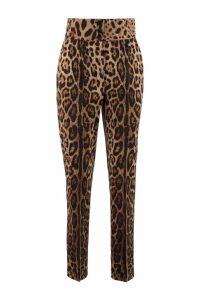 Dolce & Gabbana Printed Wool Track-pants