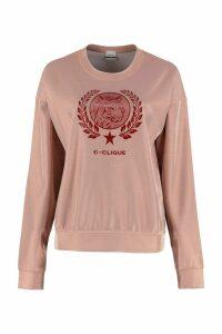 Pinko Passeggiare Lurex Techno Piqué Sweatshirt