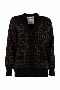 Moschino Jacquard Knit Cardigan