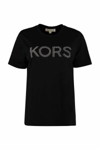 MICHAEL Michael Kors Studded Logo Cotton T-shirt