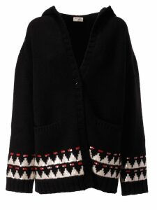Saint Laurent Hooded Knit Cardigan