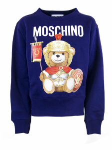 Moschino Blue Cotton Sweatshirt