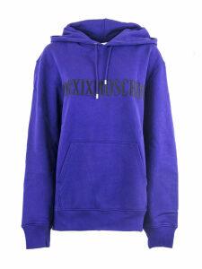 Moschino Blue Cotton Hoodie