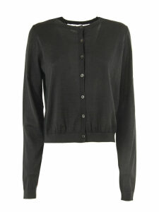 RED Valentino Black Wool, Silk And Cashmere Blend Cardigan