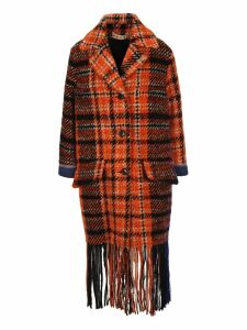 Marni Check Tweed Coat