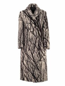 SEMICOUTURE Coat Over Branches Printing