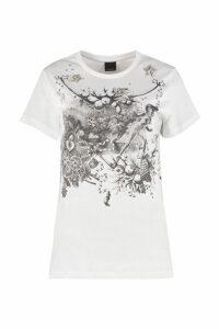 Pinko Printed Cotton T-shirt