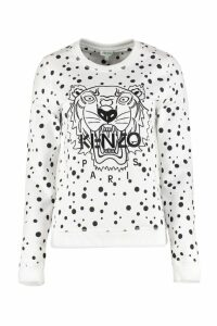 Kenzo Dots Tiger Printed Crew-neck Sweatshirt