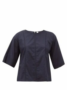 Merlette - Foresta Embroidered-lace Cotton Blouse - Womens - Navy