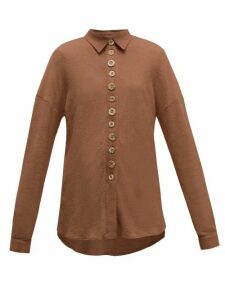 Albus Lumen - Petram Traveller Oversized Cotton-blend Shirt - Womens - Brown