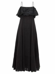 Loup Charmant - Sintra Jacquard-stripe Cotton Dress - Womens - Black