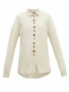 Albus Lumen - Traveller Oversized Cotton Shirt - Womens - Ivory