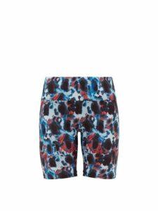 Thorsun - Blake Tie Dye Biker Shorts - Womens - Blue Multi