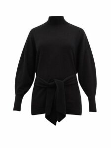 Zimmermann - Espionage Waist-tie Wool-blend Sweater - Womens - Black